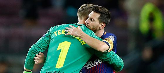 Ter Stegen juntou seis defesas a eficácia de passe de 91% – FC Barcelona 3-0 Juventus FC