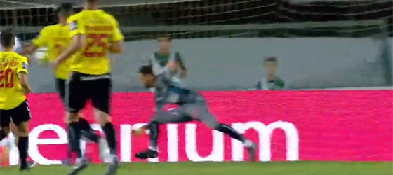 Vagner Silva em defesa caricata – Vitória FC 1-1 Boavista FC