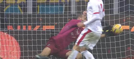 Daniele Padelli e Simone Perilli em várias defesas e penaltis detidos – FC Internazionale 0-0 Pordenone