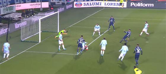 Thomas Strakosha adivinha e produz defesa espetacular – Atalanta 3-3 SS Lazio