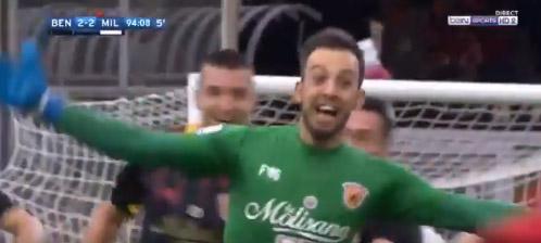 Alberto Brignoli marca de cabeça no último minuto – Benevento 2-2 AC Milan