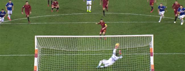 Alisson Becker defende nove remates, Emiliano Viviano em oito e um penalti parado – AS Roma 0-1 Sampdoria