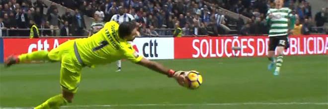 Rui Patrício defende dois penaltis depois de fechar baliza – Sporting CP 0-0 FC Porto