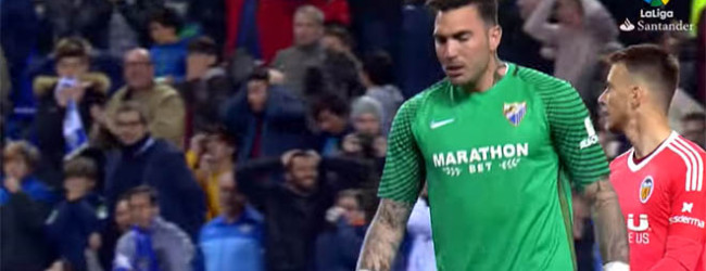Roberto Jiménez foi à área adversária e quase marcou – Málaga CF 1-2 Valencia CF