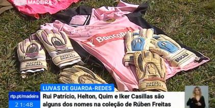 Rúben Freitas: guarda-redes da AD Pontassolense tem coleção mais de cem pares de luvas