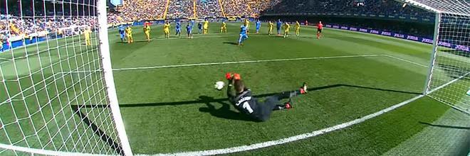 Sergio Asenjo defende dois penaltis no Villarreal CF 1-0 Getafe CF