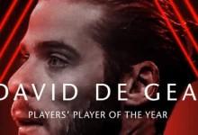 David De Gea vence prémio de Jogador do Ano pelo quarto ano consecutivo