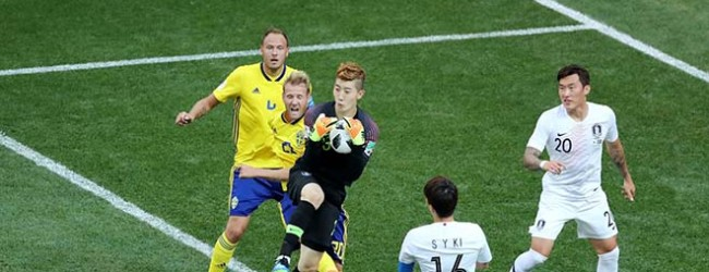 Robin Olsen v. Cho Hyun-Woo – Suécia 1-0 Coreia do Sul – Estatísticas