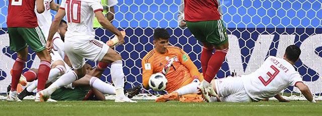 Alireza Beiranvand v. Munir Mohand – Irão 1-0 Marrocos – Estatísticas