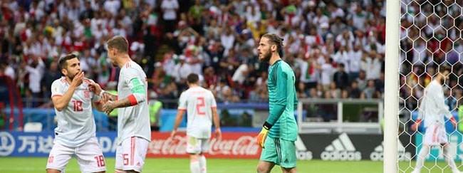 Alireza Beiranvand v. David De Gea – Irão 0-1 Espanha – Estatísticas
