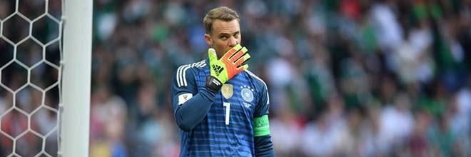 Manuel Neuer entra no Mundial'2018 como titular e absorvido pela baliza – Alemanha 0-1 México