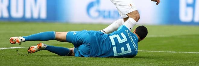 Mohamed El-Shenawy agiganta-se em três defesas espetaculares – Egipto 0-1 Uruguai