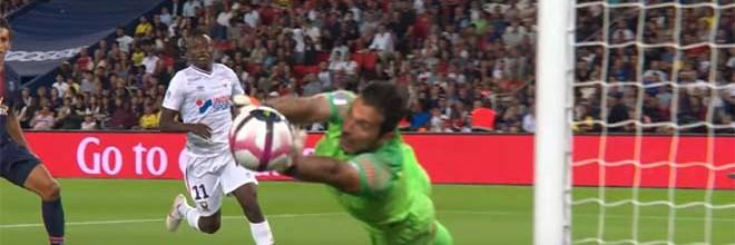Gianluigi Buffon fecha a baliza com duas defesas vistosas – PSG 3-0 SM Caen
