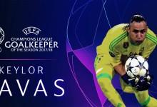 Keylor Navas eleito o melhor Guarda-Redes da Champions League 2017/2018