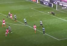 Romain Salin adiou golo com desvio a remate arisco – SC Braga 1-0 Sporting CP