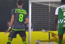 Léo Jardim intervém em remate sinuoso – Rio Ave FC 1-3 Sporting CP