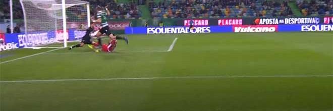 Renan Ribeiro respondeu a três investidas – Sporting CP 4-1 CD Aves