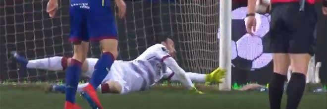 António Filipe desvia remates sinuosos antes de se lesionar – GD Chaves 1-3 Sporting CP