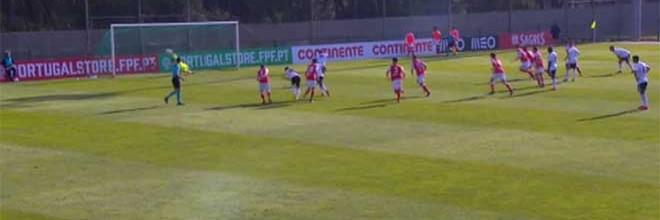Ricardo Velho defende grande penalidade – SC Braga sub-23 1-1 SL Benfica sub-23