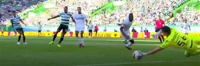 João Miguel Silva faz defesa de qualidade além de outras intervenções – Sporting CP 2-0 Vitória SC