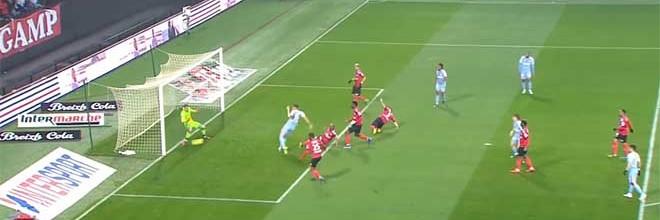 Marc-Aurèle Caillard faz dupla-defesa espetacular – EA Guingamp 1-1 AS Monaco