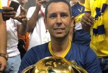 Luís Esteves celebra título de campeão por SL Benfica e Al Nassr