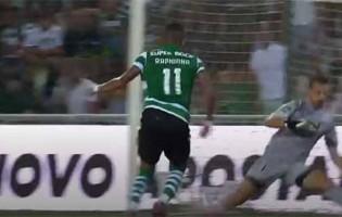 Ricardo Ferreira evita golo a curta distância depois de sofrer – Portimonense SC 1-3 Sporting CP