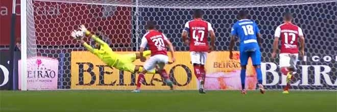 Amir Abedzadeh defende penalti de forma espetacular além de outras intervenções – SC Braga 2-2 CS Marítimo