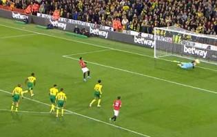 Tim Krul defende duas grandes penalidades e ainda intervém com a cabeça – Norwich City FC 1-3 Manchester United FC