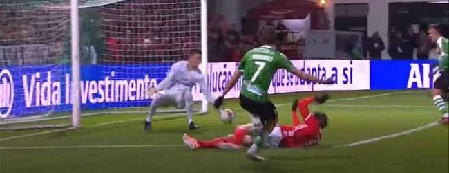 Ivan Zlobin faz defesa espetacular após precipitação – SC Covilhã 1-1 SL Benfica