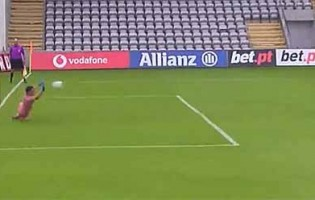Agustín Marchesín defende penalti no começo do jogo – CD Nacional 0-1 FC Porto
