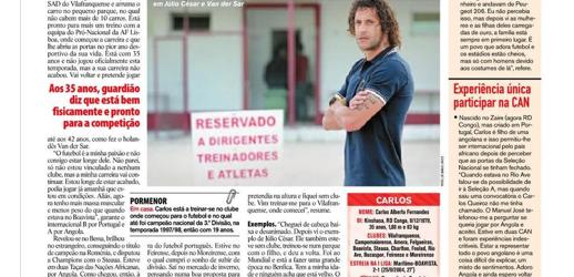 """Carlos Fernandes """"longe de estar acabado"""" – Record"""
