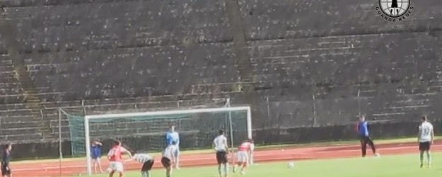 Pedro Taborda defende o sexto penalti da temporada no SC Braga B 1-2 Covilhã