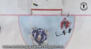 Cristobal Huet em destaque no França 2-0 Áustria – Campeonato Mundial de Hóquei no Gelo