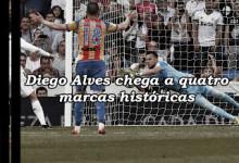 Diego Alves faz e iguala quatro marcas históricas no Real Madrid 2-2 Valencia