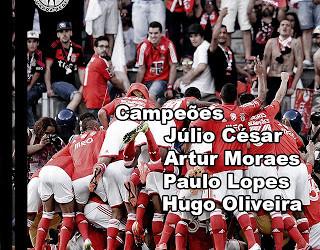 Júlio César, Artur Moraes, Paulo Lopes e Hugo Oliveira bicampeões de Portugal com o SL Benfica