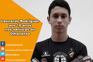 Leonardo Rodrigues, aos 16 anos, nos seniores do Olhanense