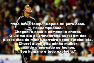 """Keylor Navas fala da transferência falhada para o Manchester United – """"Cheguei a casa e comecei a chorar"""""""