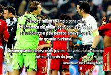 """20 anos de Gianluigi Buffon: Neuer parabeniza o seu """"ídolo"""""""