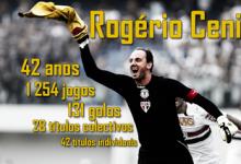 Rogério Ceni retira-se aos 42 anos, após 25 anos e 1,254 jogos