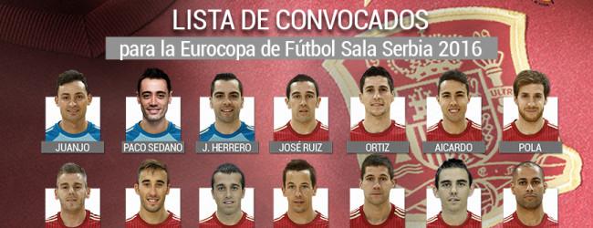 Juanjo Hernández, Paco Sedano e Jesús Herrero convocados pela Espanha para o Euro'2016