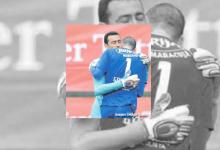 Cássio Anjos foi até ao meio-campo para confortar Eduardo Gottardi