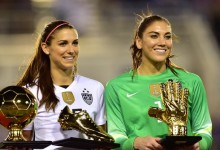 Hope Solo vence She Believes Cup e prémio Golden Glove