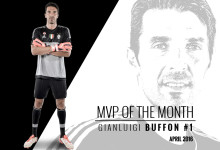 Gianluigi Buffon é o jogador do mês de abril no Juventus FC