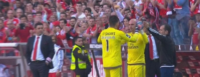 Paulo Lopes recebeu ovação na festa do campeonato do SL Benfica