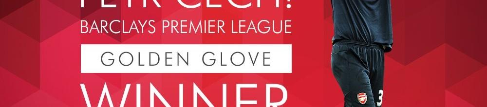 Petr Cech vence prémio Golden Glove da Premier League 2015/2016