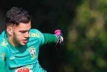 Ederson Moraes distingue trabalho de Hugo Oliveira e Cláudio Taffarel