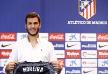 """André Moreira apresentado no Atlético: """"Orgulho por aprender com Oblak e Moyá"""""""