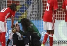Ana Catarina Pereira foi assistida por fisioterapeuta do Sporting CP