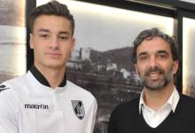 Daniel Figueira assinou contrato profissional com o Vitória SC